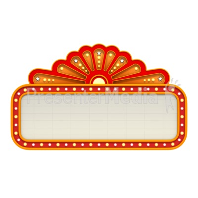 Classic Movie Theater Marquee Presentation clipart