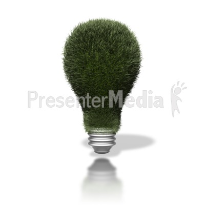 Go Green Lightbulb Presentation clipart