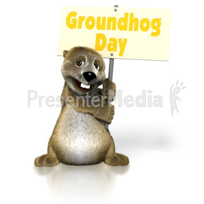 Groundhog Day Sign Presentation clipart