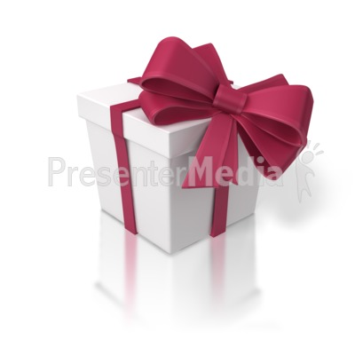 Red and White Gift Box Presentation clipart