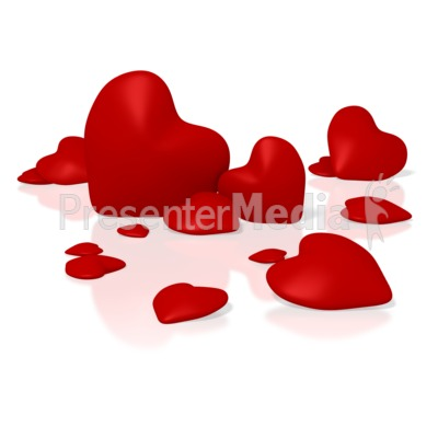 Group Of Hearts Presentation clipart