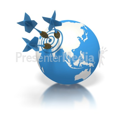 Blue Earth Three Darts Target Asia Presentation clipart