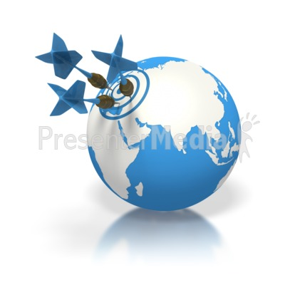 Blue Earth Three Darts Target Europe Presentation clipart