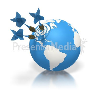 Blue Earth Three Darts Target North Amer Presentation clipart