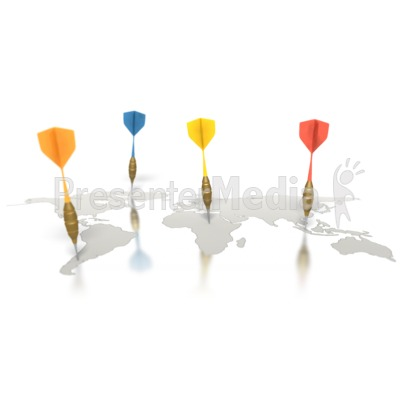 Traveling World Darts Presentation clipart