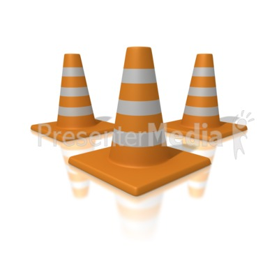Orange Traffic Cones Presentation clipart