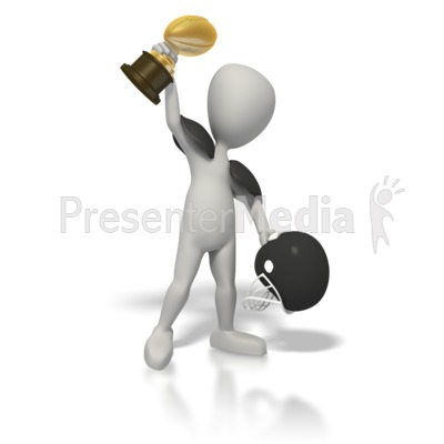Football Champion with Trophy Presentation clipart
