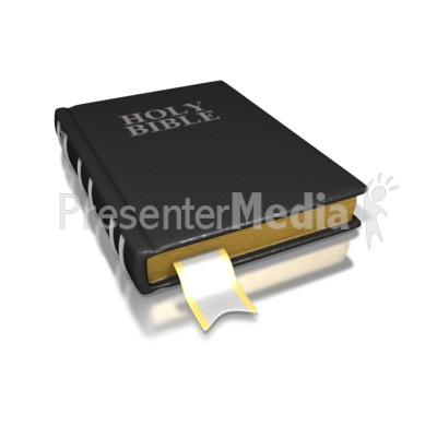 Black Holy Bible Presentation clipart