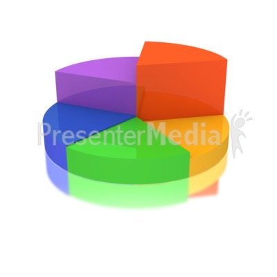 Multicolored Business Pie Graph Presentation clipart