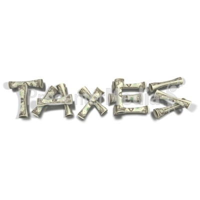 Spelling Taxes with Money Presentation clipart
