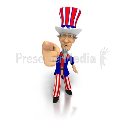 Uncle Sam I want you Presentation clipart