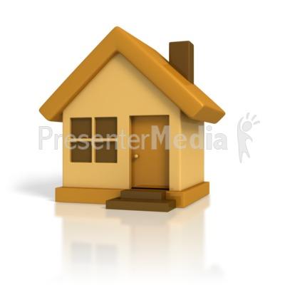 3D Cartoon House Presentation clipart