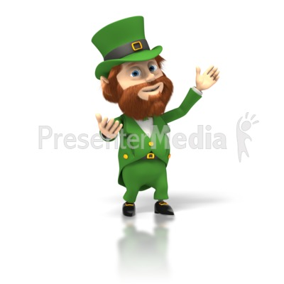 Happy Leprechaun Presents Presentation clipart