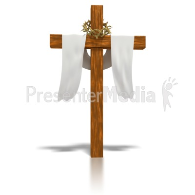 Clothed Easter Cross  Presentation clipart