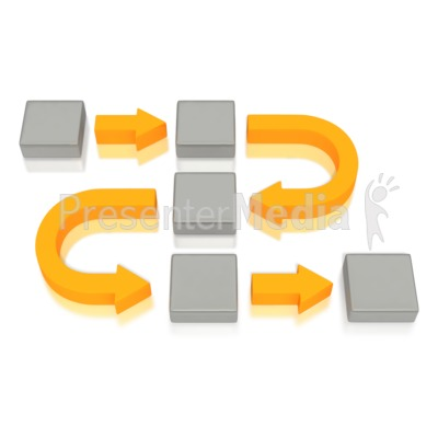 Business Diagram Curved Arrows Blocks Presentation clipart