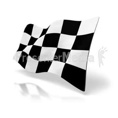 Checkered Racing Flag Presentation clipart
