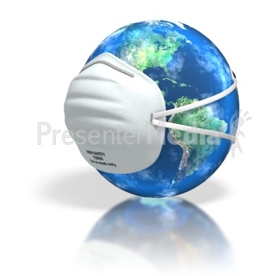World Dust Mask Cover Presentation clipart