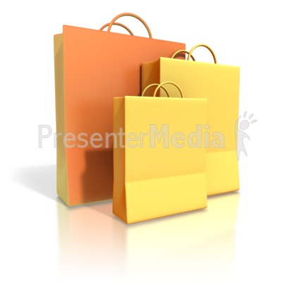Three Shopping Bags Presentation clipart