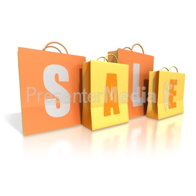Shopping Bags Sale Presentation clipart