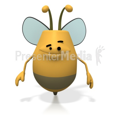 Bee Smiling Happy Presentation clipart