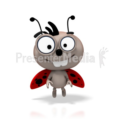LadyBug Flying Smile Presentation clipart