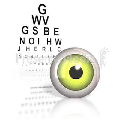 Optometrist Eye Chart  Presentation clipart