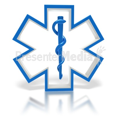 Star of Life Medical Symbol  Presentation clipart