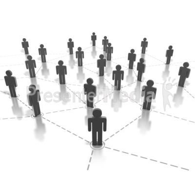 Networking People Connection Presentation clipart