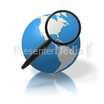 Earth Magnifying Glass North America Presentation clipart