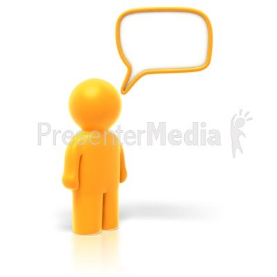 Answer or Question Bubble Presentation clipart