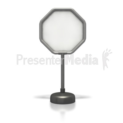 Ocagonal Blank Sign  Presentation clipart