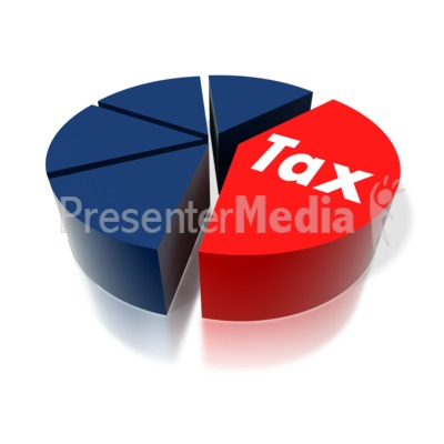 Tax Text Pie Graph Presentation clipart