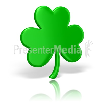 Celtic Shamrock St Patricks Day Presentation clipart