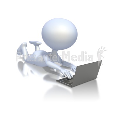 Student With Laptop Presentation clipart