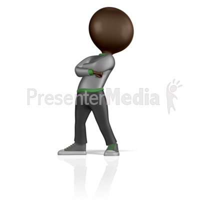 Stick Figure Standing Proud Presentation clipart