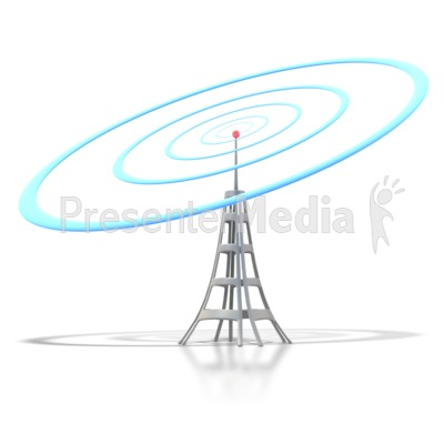 Mobile Tower Signal Presentation clipart