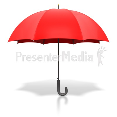 Red Umbrella Standing Upright Presentation clipart