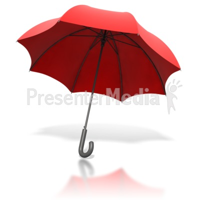 Red Umbrella Angled Presentation clipart