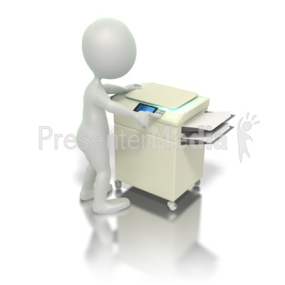 Operating Copy Machine Presentation clipart