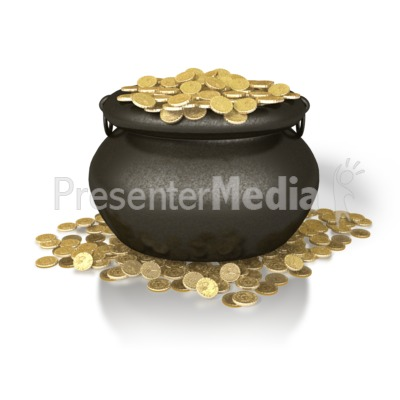 Pot Of Gold Presentation clipart