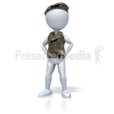 Military Stand At Ease Presentation clipart