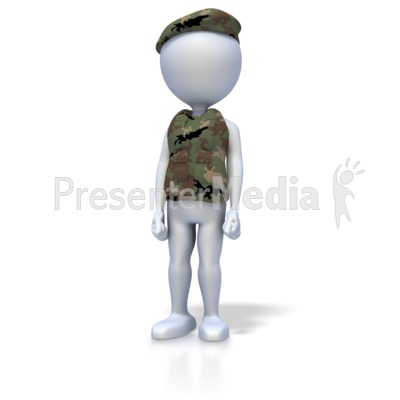 Military Stand At Attention Presentation clipart