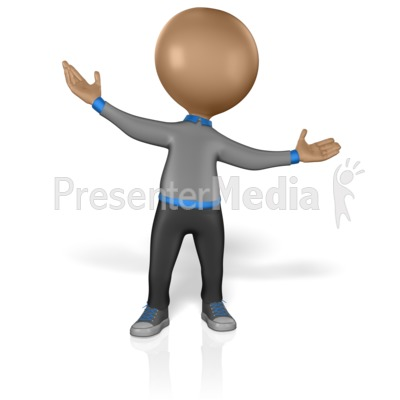 Stick Figure Welcome Hands Presentation clipart