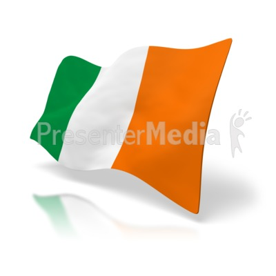Flag Of Ireland Presentation clipart