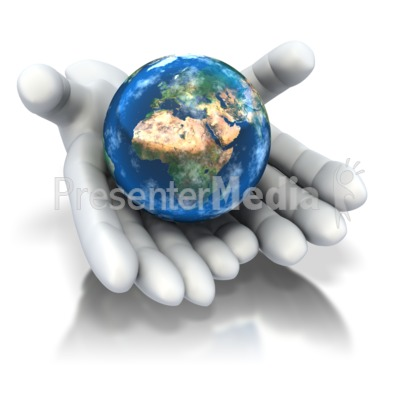 World In Hands  Presentation clipart