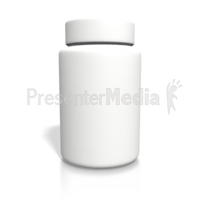 Blank White Bottle Presentation clipart