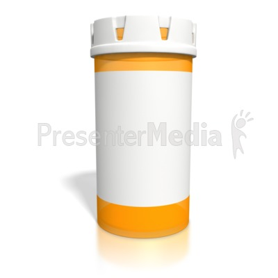 Blank Orange Pill Bottle Presentation clipart