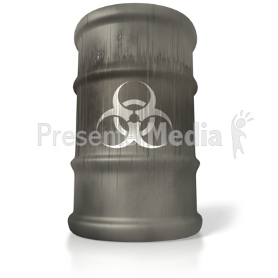 Bio Hazard Barrel Presentation clipart