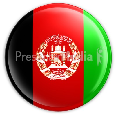 Badge of the Afghanistan Flag Presentation clipart