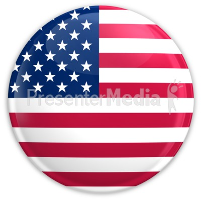 Badge of The United States Flag Presentation clipart